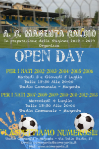 OPEN DAY A MAGENTA